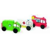 3 droles de camions aimantes jouet vilac 6170