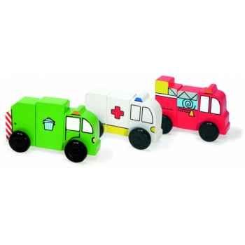3 drôles de camions aimantés - Jouet Vilac 6170