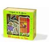 magnets de la ferme coffret 20 pcs jouet vilac 8015