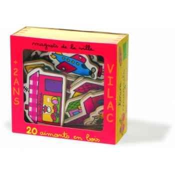 Magnets de la ville coffret 20 pcs - Jouet Vilac 8016