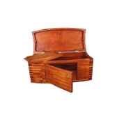 le coffre de mer 100 cm en bois de rauli avec porte et plateau last mco100p r