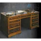 bureau amiradessus cuir epoque 19eme avec caisson 3 tiroirs 180 x 78 x 85 cm re 040t