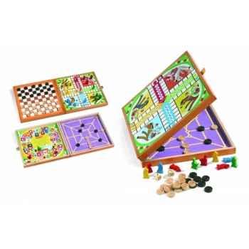 Coffret 4 jeux  jouons en famille  Janod J02064