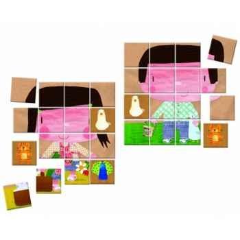 Mallette mémo/puzzle de la ferme Janod J02908