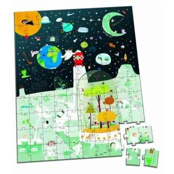 Valisette puzzle 100 pcs   mission spatiale   Janod J02924