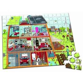 Valisette puzzle 208 pcs   habitat ecolo   Janod J02925