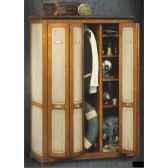 armoire penderie avec portes accordeon epoque fin 19eme avec patine 114 x 173 x 57 cm li 133pepc