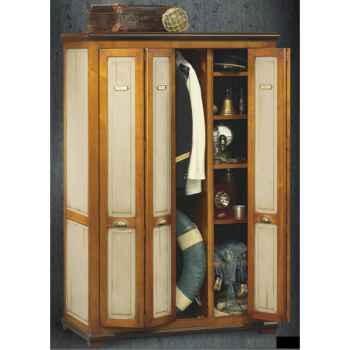 Armoire penderie avec portes accordéon, époque fin 19ème, avec patine - 114 x 173 x 57 cm - LI-133PEpc