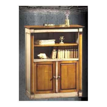 Bibus Directoire, sans bronze avec 2 portes basses, époque 18ème, avec patine - 80 x 140 x 25 cm - DI-025APpc
