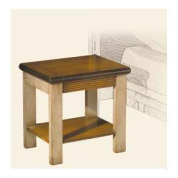 Table de chevet, époque 19ème, avec patine - 45 x 45 x 35 cm - LI-130pc