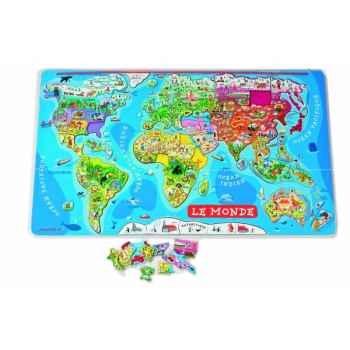 Puzzle monde magnétique Janod J05500