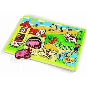 Puzzle musical ferme Janod J05516