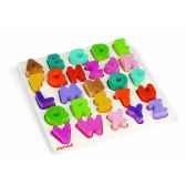 puzzle alphabet i wood janod j05566