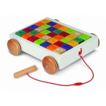 Chariot 35 cubes alphabet Janod J05583