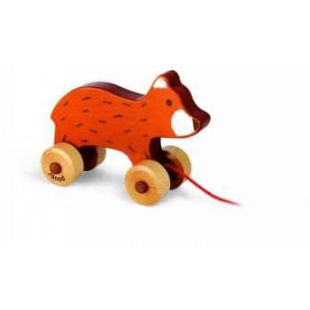 Choco, ourson en bois teinté Janod J08104