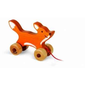 Foxy, renardeau en  bois teinté Janod J08108