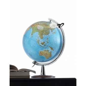 Globe de bureau - Atlantis 40 - Globe géographique lumineux - Cartographie double effet : physique éteint, politique allumé - diam 40 cm - hauteur 57 cm
