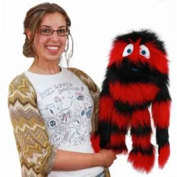 Marionnette Monstre rouge et noir -PC007707 The Puppet Company