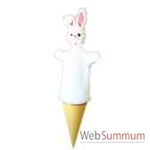 marottes lapin blanc animascena 20058