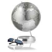 globe appearence globe decoratif cartographie politique en anglais type silver metadiam 30 cm base en alu massif et