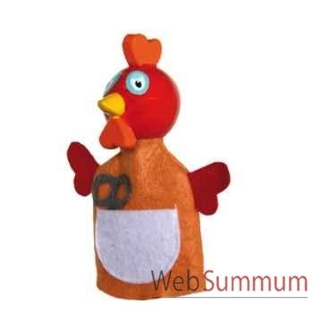 Marionnettes à doigt poule rousse animascena 19786