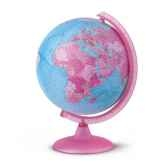globe pink globe geographique lumineux rose cartographie politique diam 25 cm hauteur 36 cm