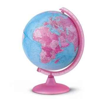 Globe Pink - Globe géographique lumineux rose - Cartographie politique - diam 25 cm - hauteur 36 cm