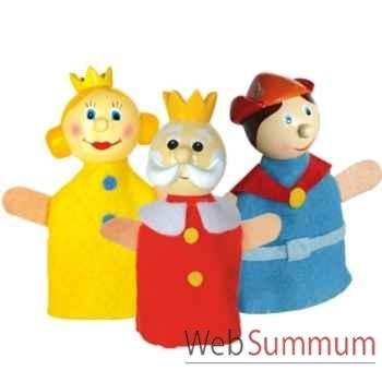 Duo & trio marionnettes à doigt roi prince reine animascena 19885