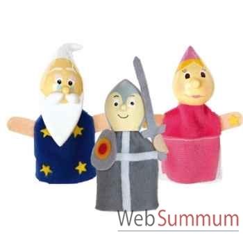 Duo & trio marionnettes à doigt chevalier fée merlin animascena 19892