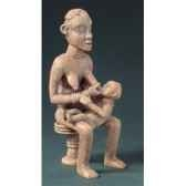 figurine art mouseion afr bangwa mother child 16cm afr01 3dmouseion