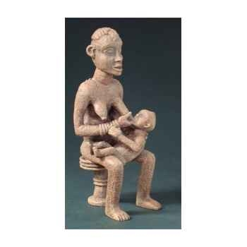 Figurine art mouseion afr bangwa mother child 16cm  afr01 3dMouseion