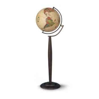 Globe Prestige Sylvia - modèle Marco Polo  - Globe géographique lumineux -  Cartographie de type antique,  réactualisée - diam 3