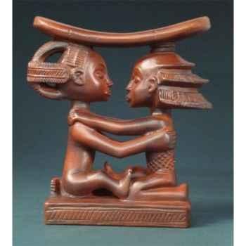 Figurine art mouseion afr luba couple headrest 14cm  afr04 3dMouseion