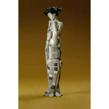 Figurine art mouseion tri col horse brown  ch01 3dMouseion