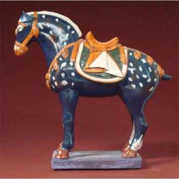 Figurine art mouseion tri col horse blue  ch03 3dMouseion