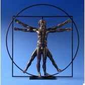 figurine art mouseion da vinci homme de vitruve bronze dav03 3dmouseion