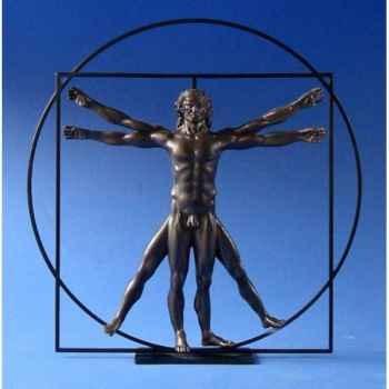 Figurine art mouseion da vinci l\'homme de vitruve bronze  dav03 3dMouseion