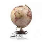 globe classic a4 globe lumineux cartographie de type antique diam 30 cm pied noyer et meridien laiton