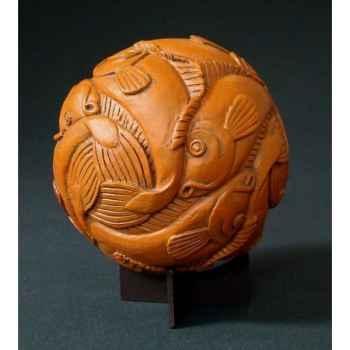 Figurine art mouseion escher bol met vissen, 1940  esc04 3dMouseion