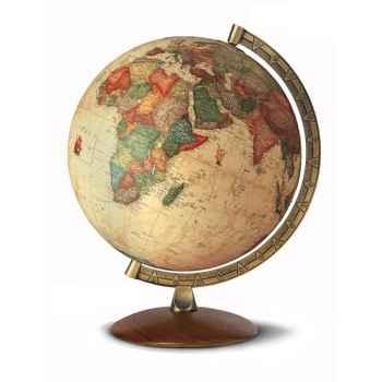 Globe de bureau - Antiquus - Globe géographique lumineux - Cartographie de type antique,  réactualisée - diam 30 cm - hauteur 38