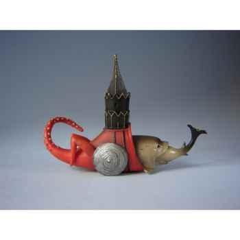 Figurine art mouseion jeroen bosch vis met toren jb03 3dMouseion