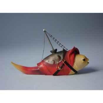Figurine art mouseion jeroen bosch vis met mast  jb05 3dMouseion