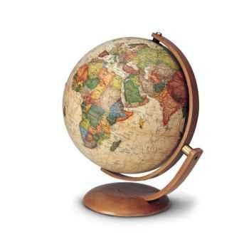 Globe de bureau Optimus 30 - Globe géographique lumineux - Cartographie de type antique,  réactualisée - diam 30 cm - hauteur 40 cm