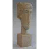 figurine art mouseion modigliani head 20 cm cubic mo07 3dmouseion
