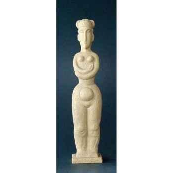 Figurine art mouseion modigliani kariatide 29cm  mo11 3dMouseion