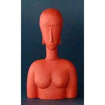 Figurine art mouseion modigliani red bust  mo14 3dMouseion