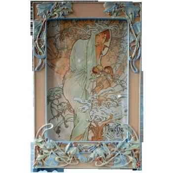 Figurine art mouseion mucha photo frame berries  muc02 3dMouseion