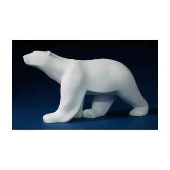 Figurine art mouseion pompon ours blanc pom01 3dMouseion