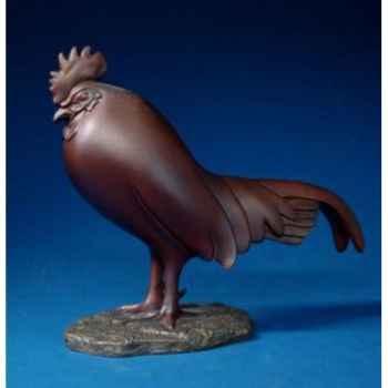 Figurine art mouseion pompon coq dormant (grand)  pom14 3dMouseion