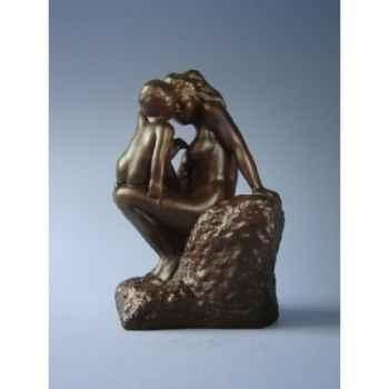 Figurine art mouseion auguste rodin moeder met kind  ro09 3dMouseion